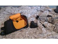 Nikon D5100 DSRL + bag + tripod