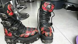 New rock boots size 7.5 or 8