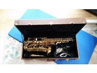Alto Sax with case and stand