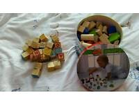 Kids wooden blocks and puzzles