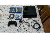 Playstation 4 500Gb and games