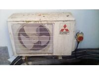 5 UNITS MITSUBISHI AIR CONDITIONER INSIDE AND OUT SIDE UNITS