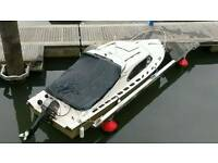 Boat and 30hp Tohatsu outboard