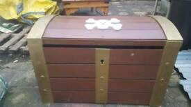Heavy wooden toy trunk