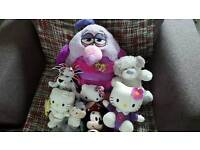 8 cuddly toys hello kitty angry birds