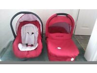 Carry cot and car seat