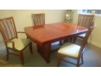 Beautiful table and four chairs