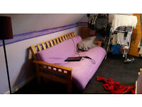 Solid Wood Bed Settee For Sale