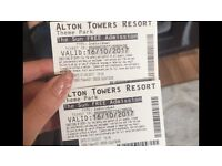 Alton towers tickets 16th October 2017