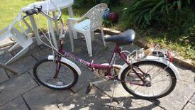Folding bicycle £40