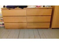 Large Ikea chest of drawers 6 drawers