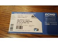 2 standing tickets James and The charlatans. One night only Liverpool echo arena