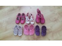 6 pairs of girls shoes size 6