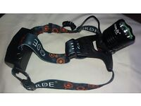 Headtorch, LED with integral rechargeable battery and five light modes