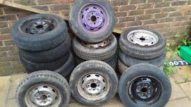 12 inch mini steel wheels x18