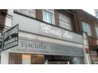 shopfront sign for beauty salon