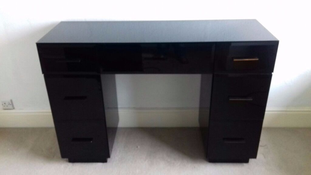 Black glass dressing table by next in felixstowe