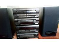 Kenwood Stereo Integrated System with double cassette player and cd player