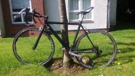 Black viking road bike