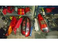 Ford focus fiesta and vauxhall corsa head lights and tail lights