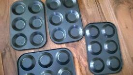 Kitchen bundle lot 4 baking shallow pan tins IKEA bakers rack cups bowls vase lg stoneware bowl
