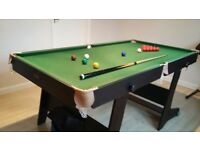 £40 : 6ft Folding Snooker and Pool Table. 2nd Hand in Excellent Condition