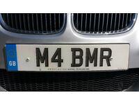 BMW M4, Cherished Number Plate M4BMR M4 BEEMER