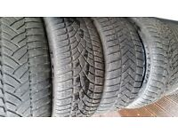 Bmw Tyres (& Others) 225 40 18 - 245 40 18 Full set Of Dunlop Wintersport Tyres Bargain !