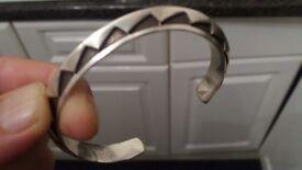 Emerson bill Sterling Silver Navajo jewelry bracelet 42 grams