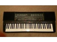 Yamaha psr500 boxed with stand, manual and sustain peddle