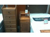 Bedside cabinet in pine - British Heart Foundation