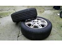 Alloy wheels plus tyers 185/55/15