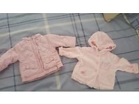 girls jackets 0-3m upto 18-24m