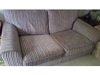 Plum Stripe Next 2 Seater Sofa Bed