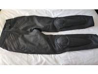 Ladies black leather motorcycle bottoms