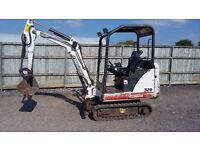 Bobcat 320 1.5 tonne Mini Digger. Works well low hours.