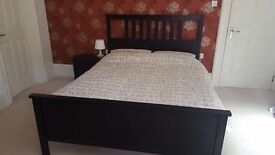kingsize hemnes bed with mattress and duvet 150£ 9 months old