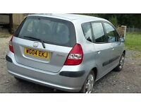 Honda Jazz 04, 87600, new MOT, reliable car with full history.