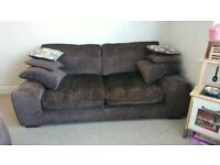 Brown Sofas 2 & 3 seater