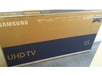 SAMSUNG 55 INCH 4K UHD HDR SMART TV (NEW/BOXED) **£450**