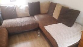 Corner Sofa with 2 seater and foot stool