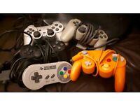 SNES PlayStation GameCube controller Super Nintendo
