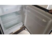 Integrated under counter fridge with freezer compartment
