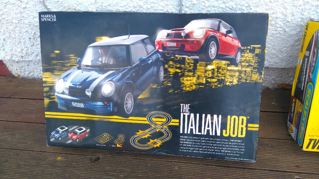 "Electric cars game Scalextric type by M&S ""Italian job"" with Mini carsin Leighton Buzzard, BedfordshireGumtree - Boxed, hardly used in VGC (RRP£79) Collection preferred from Leighton Buzzard area but post/courier possible at buyers cost extra"