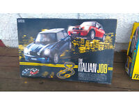 """Electric cars game 'Scalextric' type by M&S """"Italian job"""" with Mini cars"""