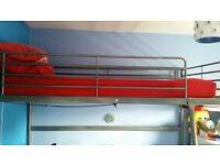 Loft bed frame -Silver Frame (IKEA)