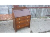 Vintage Oak Bureau Child's Desk Bedroom.