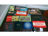 Lot of board games old and new