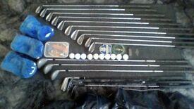 Golf Clubs, Dunlop, full set with bag.