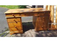 Solid wooden computer desk - Excellent hard wood -£40